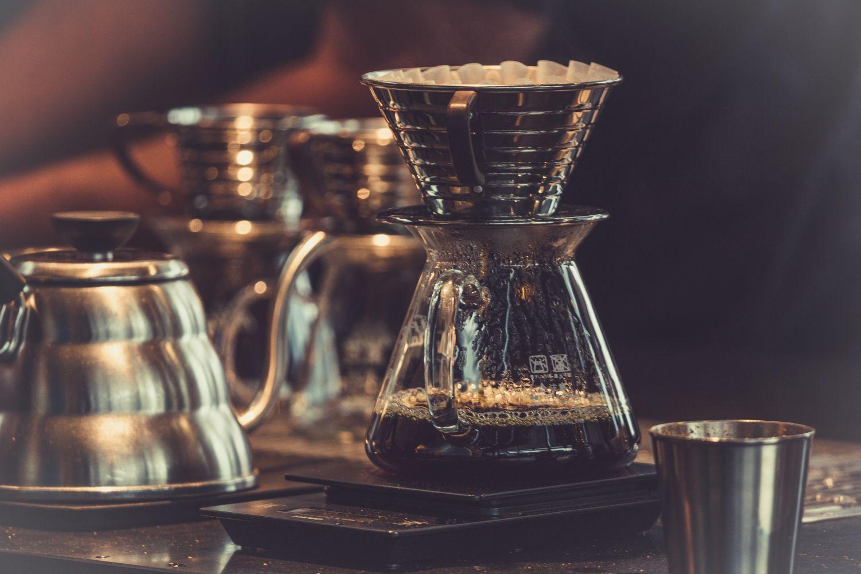 Kaffeekanne mit Filter